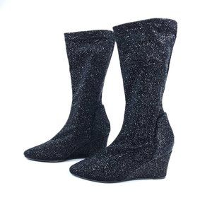 Free People Sparkle Slouchy Seville Wedge Boots